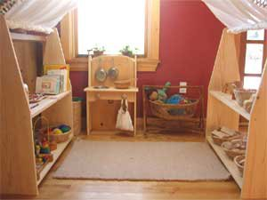 Waldorf Core inspired playroom