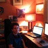 Rob at computer