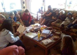 Patti reading circle